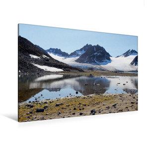 Premium Textil-Leinwand 120 cm x 80 cm quer Ein Gletscher in der