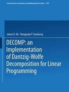 DECOMP: an Implementation of Dantzig-Wolfe Decomposition for Lin