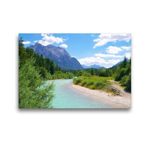 Premium Textil-Leinwand 45 cm x 30 cm quer Der Isar Naturerlebni