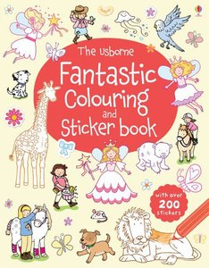 Usborne Fantastic Colouring and Sticker Book