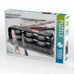 2-fach Fallen- Umlenkblock 1000 Teile Puzzle quer