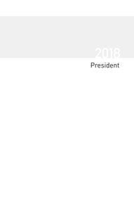 Terminkalender President Einlage 2018