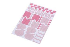 2 Stickerbögen DIN A5 mit 120 rosa Aufklebern für Mädchen zum Be