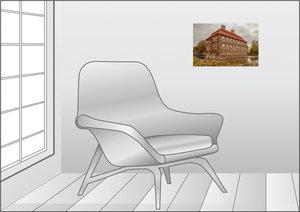 Premium Textil-Leinwand 45 cm x 30 cm quer Schloss Oberwerries i