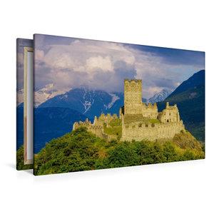 Premium Textil-Leinwand 120 cm x 80 cm quer Castello di Cly