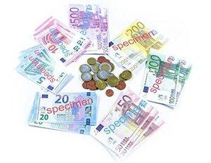 EURO-Spielgeldsatz, 22 Münzen und 22 Scheine im Polybeutel