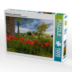 Mohnblumen im Bauernbeet 1000 Teile Puzzle quer