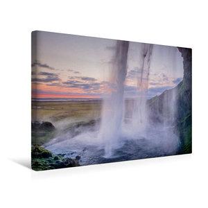 Premium Textil-Leinwand 45 cm x 30 cm quer Wasserfall Seljalands