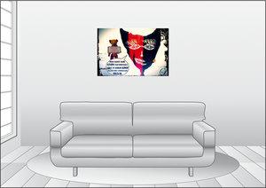 Premium Textil-Leinwand 90 cm x 60 cm quer Muttis Liebling