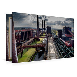 Premium Textil-Leinwand 120 cm x 80 cm quer Blick über die Koker