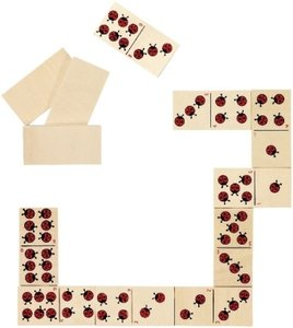 Dominospiel Marienkäfer (Kinderspiel)