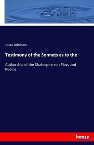 Testimony of the Sonnets as to the