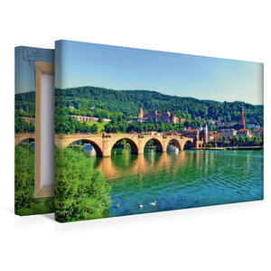 Premium Textil-Leinwand 45 cm x 30 cm quer Schloss Heidelberg un