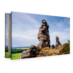 Premium Textil-Leinwand 90 cm x 60 cm quer Teufelsmauer
