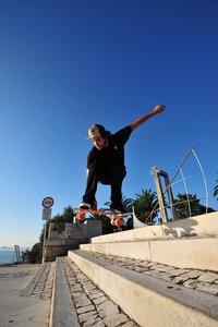 Streetsurfing Skateboard Beach Board, Orange, ABEC 7