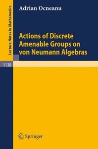 Actions of Discrete Amenable Groups on von Neumann Algebras