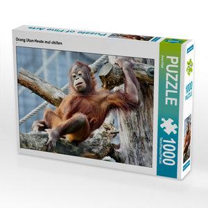 CALVENDO Puzzle Orang Utan-Heute mal chillen 1000 Teile Lege-Grö