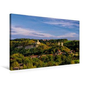 Premium Textil-Leinwand 75 cm x 50 cm quer Burg Saaleck und Rude