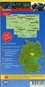 ADFC-Regionalkarte Harz, 1:75.000, reiß- und wetterfest, GPS-Tra