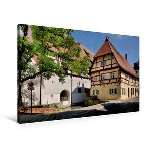 Premium Textil-Leinwand 90 cm x 60 cm quer Bei der Roßwette