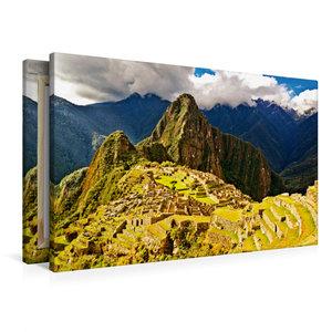 Premium Textil-Leinwand 90 cm x 60 cm quer Macchu Picchu