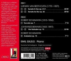 Sonate op.31/1 & 26,Toccata &Arabe,Balladen op.10