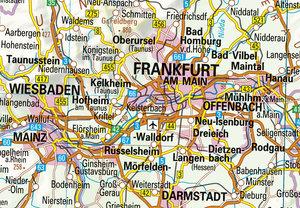 Übersichtskarte Deutschland 1:750 000