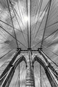 Premium Textil-Leinwand 50 cm x 75 cm hoch NEW YORK CITY Brookly