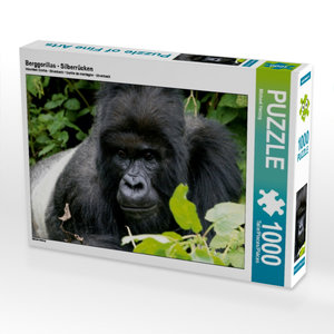 CALVENDO Puzzle Berggorillas - Silberrücken 1000 Teile Lege-Größ
