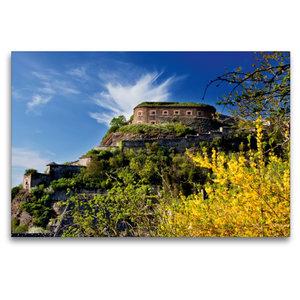 Premium Textil-Leinwand 120 cm x 80 cm quer Festung Ehrenbreitst