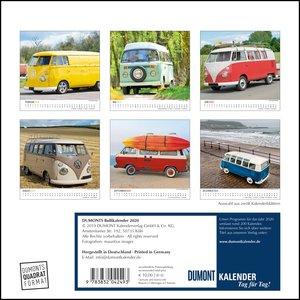 DUMONTS Bulli-Kalender 2020 - VW-Bus, Oldtimer, Retro - 24 x 24