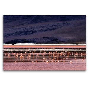 Premium Textil-Leinwand 120 cm x 80 cm quer Laguna colorada