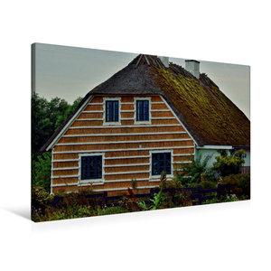 Premium Textil-Leinwand 90 cm x 60 cm quer Reethaus in Hesnæs