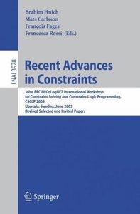 Recent Advances in Constraints