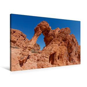 Premium Textil-Leinwand 90 cm x 60 cm quer Elephant Rock - Valle