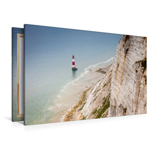 Premium Textil-Leinwand 120 cm x 80 cm quer Beachy Head Leuchttu
