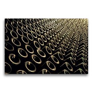 Premium Textil-Leinwand 75 cm x 50 cm quer Keller Flaschen