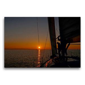 Premium Textil-Leinwand 75 cm x 50 cm quer Sundowner bei Kressbr