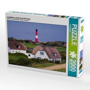 Leuchtturm auf der Insel Pellworm 2000 Teile Puzzle quer