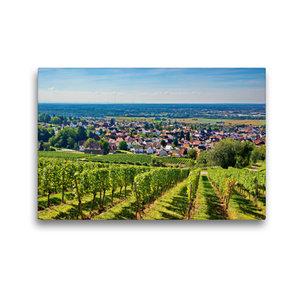 Premium Textil-Leinwand 45 cm x 30 cm quer Blick vom Reuschberg