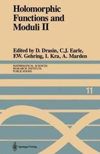Holomorphic Functions and Moduli II