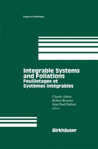 Integrable Systems and Foliations