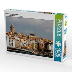 Skyline mit Galataturm 1000 Teile Puzzle quer