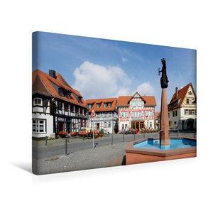 Premium Textil-Leinwand 45 cm x 30 cm quer Marktplatz