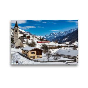 Premium Textil-Leinwand 45 cm x 30 cm quer Unterengadin: Engadin