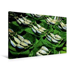 Premium Textil-Leinwand 90 cm x 60 cm quer Fisch auf dem Markt