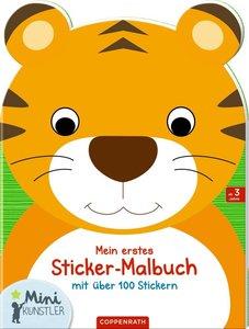 Mein erstes Sticker-Malbuch: Tiger
