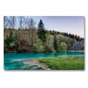 Premium Textil-Leinwand 90 cm x 60 cm quer Der blaue See