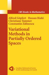 Variational Methods in Partially Ordered Spaces