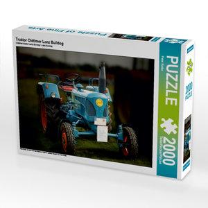 Traktor Oldtimer Lanz Bulldog 2000 Teile Puzzle quer